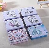 Ducomi lovelybox–Set von 3boxen in Blechdose mit Deckel klappbar und Position Vintage und vom Design italienisch–Behälter für Tabak, Bremsbeläge, Schmuck und kleine Objekte Joy