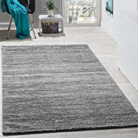 Rug modern lounge short-pile cosy affordable mottled In grey Cream from Paco Home