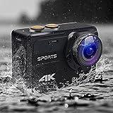 MOCRUX Action Kamera, 16MP 4K Wifi Sport Videokamera, Ultra HD 2.0 Zoll LCD-Bildschirm 150 Grad Weitwinkel Wasserdichte Sport DV Kamera mit Montage Zubehör Kits