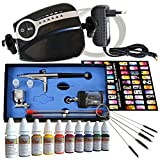 Aerógrafo profesional Compresor Conjunto con Carry II Nail Set Color...