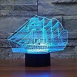 Elsley eine Vielzahl von Arten Knopf 3D Lampe Stereoscopic dreidimensionalen optischen Effekt sieben Farben Änderungen in der Beleuchtung einzigartige kreative 3D-LED-Leuchten und dekorative Geschenk kreatives Design (Muster1)
