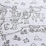 Stoff Kinderstoff Baumwolle Popeline weiß Kinder