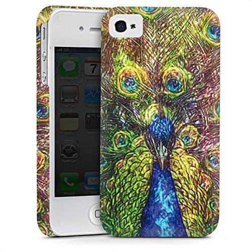 Apple iPhone 5 Housse Étui Silicone Coque Protection Paon Oiseau Animaux Cas Premium mat
