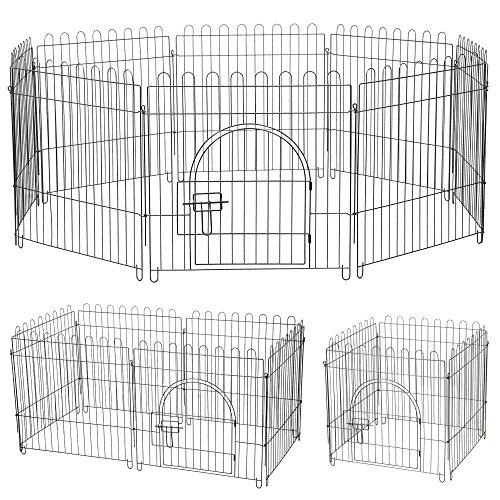 Yaheetech 8 pz recinti per cani gatti cuccioli roditori - recinzione rete gabbia