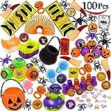 JOYIN 120 STÜCKE Halloween Spielzeug für Halloween Party, Kinder Give Aways, Kindergeburtstag Mitgebsel, Süßes oder Saures, Halloween Preise