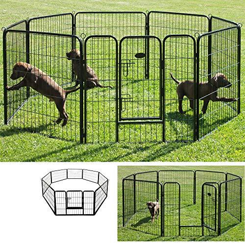 Petigi Recinto Gabbia Cuccioli Grande per Cani Roditori Animali Pieghevole 60 x 80 cm 8 Parti