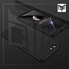 TheGiftKart Full Body 3 in 1 Slim Fit Complete 3D 360 Degree Protection Hybrid Hard Bumper Back Case Cover for Oppo Realme 1 (All Black)