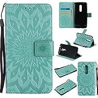 Cozy Hut ZTE AXON 7 Hülle,ZTE AXON 7 Case,ZTE AXON 7 Leder Wallet Tasche Brieftasche Schutzhülle, Prägung Sunflower... preisvergleich bei billige-tabletten.eu
