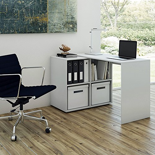 regal kombination 90 180 winkelbar wei schreibtisch eckschreibtisch regal f r akten ordner. Black Bedroom Furniture Sets. Home Design Ideas