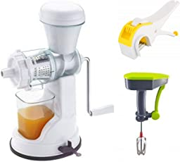 STYLELIME Combo of Fruit & Vegetable Premium Manual Hand Juicer Mixer,Vegetable Cutter,Hand Blender and Beater(Combo of 3)