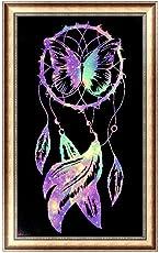 Awakingdemi 5D Diamond Cross Stitch Painting Kits, 5D Dream Catcher Diamond Painting Embroidery DIY Cross Stitch Home Decor