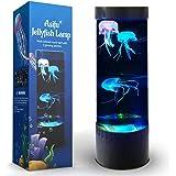Jellyfish Lampe à lave LED Fantasy 20 couleurs changeantes avec 3 méduses Electric Mood Light Décoration pour la maison, le b