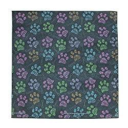 CTM Colorful Dog Paw Print Bandana from CTM
