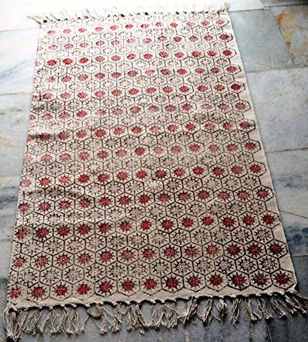 silkroude Nouveau Motif Floral Kilim Tapis Fait à la Main Kilim Tapis Turc Tapis Coton Dhurrie fabriquée à la Main Kilim Tapis