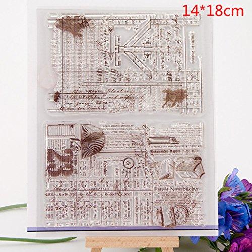 ECMQS DIY Transparente Briefmarke, Silikon Stempel Set, Clear Stamps, Schneiden Schablonen, Bastelei Scrapbooking-Werkzeug