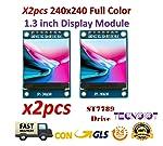 2pcs 1.3 inch IPS HD TFT ST7789 Drive IC 240*240 Full Color LCD Display Module|2pcs 1,3 Zoll IPS HD TFT ST7789 IC 240...