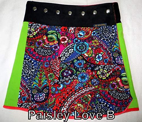 Winterrock kurz oder lang,Paisley love B, Gr. 36-42, Größe verstellbar,gefüttert, Handarbeit, - Gefüttert Paisley Rock