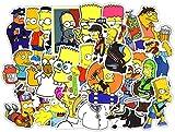 Zhenzhiao The Simpsons Décoration Autocollant Imperméable Vinyle Scrapbooking Stickers Voiture Vélo Moto Valise Autocollant 50 Pièce / 100pcs Ordinateur Portable Stickers - 50pcs-A