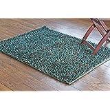 90 x 120 cm Alfombra de tejido reversible tejido 100% material orgánico con tintes vegetales.Tapete. 3' x 4' Blue/Brown Mix Pile Shaggy Area Rug/Carpet, Style: 2354