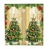 Sharplace 1 Paar Weihnachtsthema Türgardine Vorhänge mit Zubehör wie Übergardine & S-Form Haken - Als Bild #3