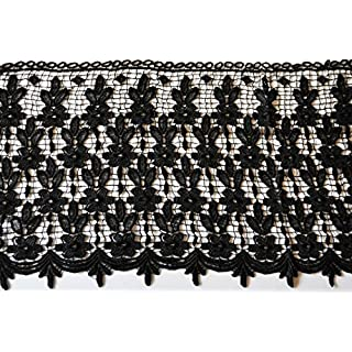 Altotux Venezia-Spitze, 34,3 cm, Schwarz/Weiß schwarz