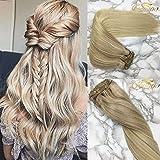 Googoo Hair Haarverlängerung, 41 cm (16 Zoll), , Ombre Light Blonde to Platinum Blonde #14/60, Stück: 1