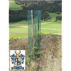 BEST4FORST 25 Stück Baumschutzhülle Forstwuchs 120cm hoch, Ø 20cm, grün, Stammschutz, Fege- und Verbissschutz