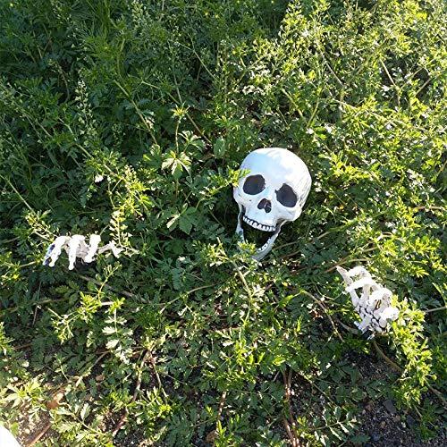 Halloween Skeleton Rasen Stakes Set Kunststoff Hände und Schädel Spukhaus Escape horror requisiten Halloween Dekorationen