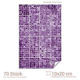 Graz Design 767065_10x20_100 Fliesenaufkleber Mosaik - Muster Lila | mit Fliesenbildern die Fliesen-Wände überkleben (Fliesenmaß: 10x20cm (BxH)//Bild: 100x150cm (BxH))
