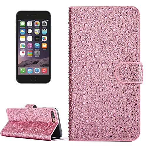 Phone case & Hülle Für iPhone 6 Plus / 6s Plus, Regentropfen Pattern Horizontale Flip Leder Tasche mit Halter & Card Slots ( Color : Gold ) Pink