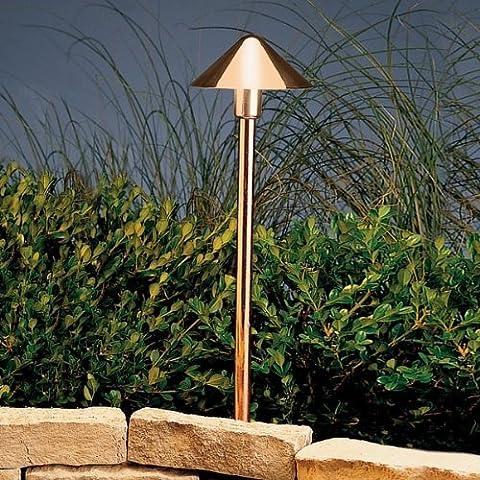 15439CO Fundamentals 1LT Incandescent/LED Hybrid LV Landscape Path & Spread Light, Polished Copper Finish by Kichler Lighting