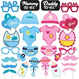 #10: Discount Retail Photo Booth Props For Baby Shower 28 Pcs