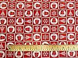 Oddies Textile P860 Rose & Hubble Weihnachtsbäume,