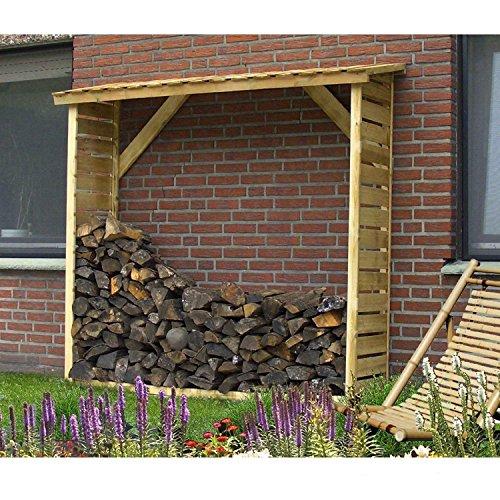 *Gartenpirat Kaminholzunterstand Standard für bis zu 1,4 m³ Brennholz*