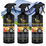King of Sheen Advanced ultra Nano detergente e cera auto spray detergente per auto con Canauba cera e Nano polimeri per maggiore protezione e duratura brillantezza, (3 x 500 ml) + 2 panni in microfibra professionale. Eco friendly prodotto