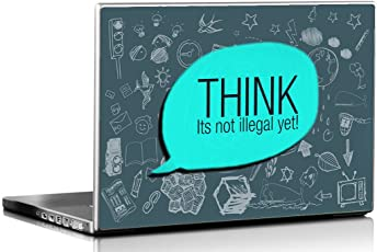 Seven Rays Think Its not Illegal Laptop Skin Covers Fits For All Models for Screen Size Dimensions - 15 x 10 Inches