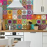 Ambiance-Live, Adesivo da Parete, Adesivo murale: Piastrelle in Cemento Adesivo murale - Azulejos - 20 x 20 cm - 60 Pezzi