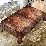 hhlwl Tischdecke Home Party Dekoration Tischdecke 3D Klassische Holzmaserung Rechteckig Leicht Zu Tischdecke Abwischen, 70 X 150 cm