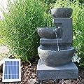 CLGarden Solar Springbrunnen NSP12 mit Akku und LED Beleuchtung für Garten Terrasse Balkon von CLGarden auf Du und dein Garten