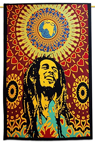 Bob Marley Tapiz Índico, multicolores Índico de tapiz mandala pared Alfombras Decor Pared colgantes india Decor Pared Tapiz Alfombras Amarillo Índico Índico pared colgantes Online Big Bazar Bob, Indian Tapiz Online Big Bazar Índico Colcha Online Big Bazar