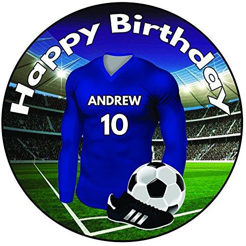 AK Giftshop '-Farben, Fußball-Trikot Birthday, 20cm, Zuckerguss-Dekoration