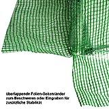 BRAST Folien Gewächshaus Stahlfundament Garten Treibhaus - 5