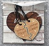 Lieblingsmensch Schlüsselanhänger aus Holz sehr gute Qualität Partnergeschenk Herz Anhänger Geschenk vom ORIGINAL endlosschenken -