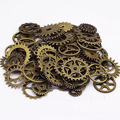 Kicode 100g/Packung beobachten Teile Steampunk Schmuck Kunst Craft Cyberpunk Cogs Gears DIY machen Anhänger handgemachter Dekor