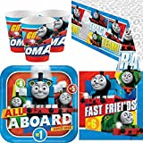 Amscan BPWFA-4179 Friends Thomas The Tank Engine Party Tableware Pack for 8 People Includes Cups/Plates/Napkins/Table Cover