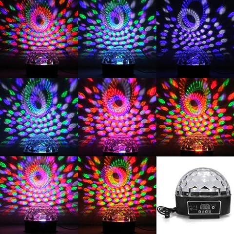6 Color Disco DJ Etapa de iluminación LED RGB digital Crystal Ball Luz.