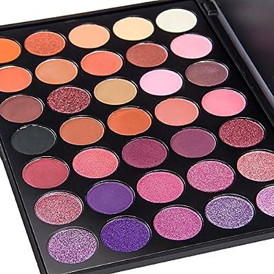 DE'LANCI 35 Color Eyeshadow Makeup Palette Waterproof Makeup Eyeshadow Kit Set from FiveBull Technology Co., Ltd
