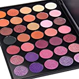 DE'LANCI - 35 Color Eyeshadow Makeup Palette Waterproof Makeup Eyeshadow Kit Set P+