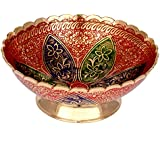 Craft Trade Red Designer Brass Multicolor Bowl