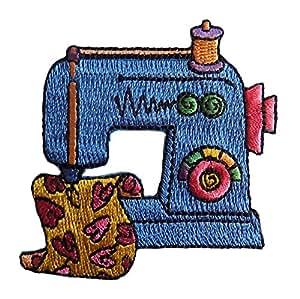 Blau Nähmaschine Embroidered Iron on Aufnäher
